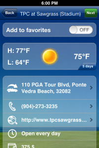 Mobitee Golf Weather assistant