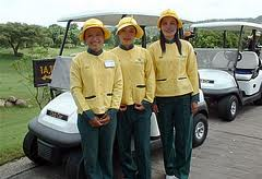 Golf Caddies in Thailand